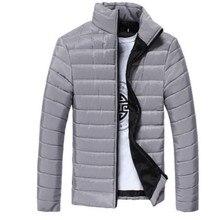 6 Farbe Marke Winterjacke Männer 2016 Mode Candy farbe Stehkragen Baumwolle Parka Große Größe Dünner Männer Jacke Mantel stil