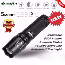 Home Wider New High Quality Hot 5000 Lumen 5 Modes T6 Zoomable LED 18650 Flashlight Torch Lamp Light G700 X80 Free Shipping Dec8