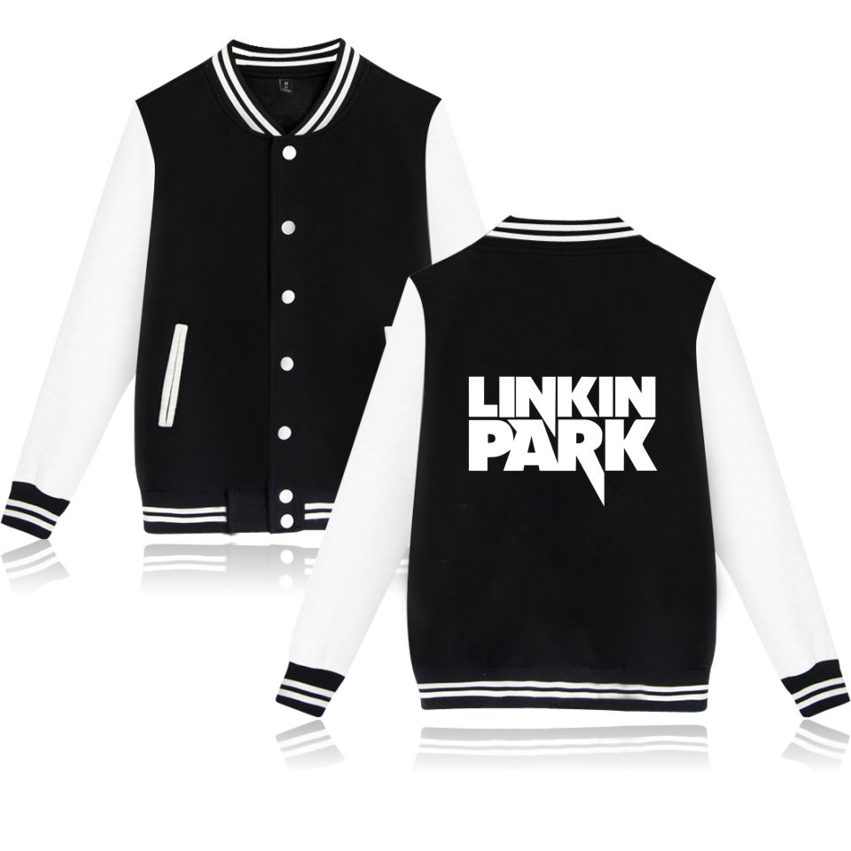 Music Band Fashion Linkin Park Cartoon Design Mens Hoodies Baseball And Plus Size Women Sweatshirts Autumn Clothes XXS To 4XL