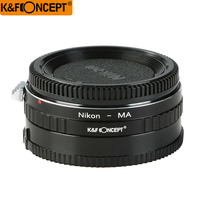 K&F CONCEPT High Precision Glass Infinity Focus Lens Adapter Ring For Nikon AI Lens to Minolta MA/Sony Alpha Mount Camera Body