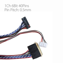 Universal 1ch 6bit 40pins lvds cable 300mm LP140WH1 screen cable 0.5mm Pin Pitch for LCD DIY v56 3663