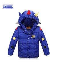 Baby boy down зимняя куртка дети милые точка с капюшоном дети верхней одежды теплая одежда мальчик вниз пальто стеганые одежды детская одежда