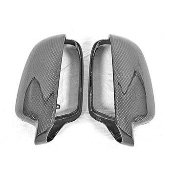 Porta Lateral Espelhos Retrovisores do carro De Fibra De Carbono Tampa Replacment Para Audi A4 B9 2013-2016