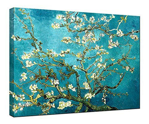 Almond, Painting, Tree, Print, Blossoming, Picture