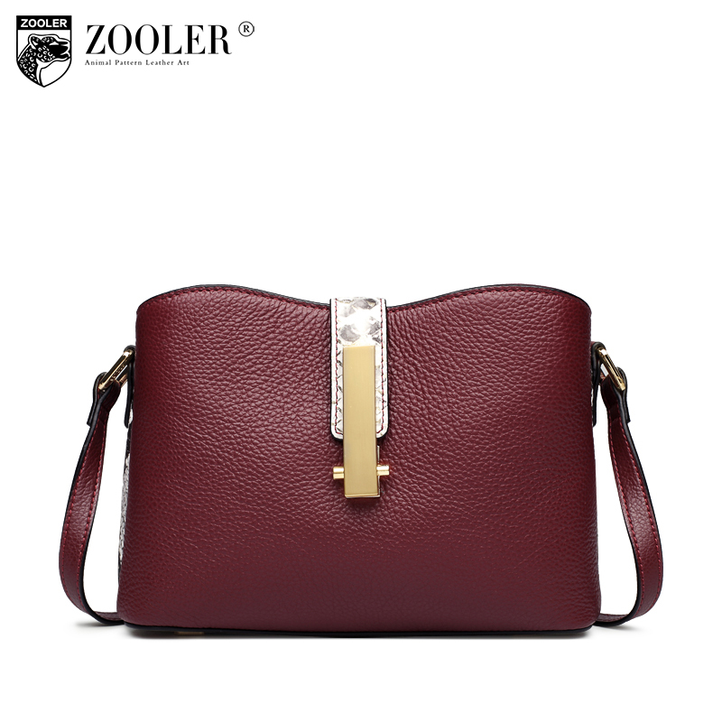 ZOOLER Brand New Women Small Solid Shoulder Bag Ladies Genuine Leather Messenger Bags Handbags Women Famous Brands Sac A Main zooler crossbody bags for women new ladies messenger bag crocodile genuine leather small shoulder bag sac a main femme de marque