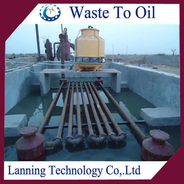 NEWEST DESIGN WASTE RUBBER TYRE PLASTIC RECYCLING TO OIL