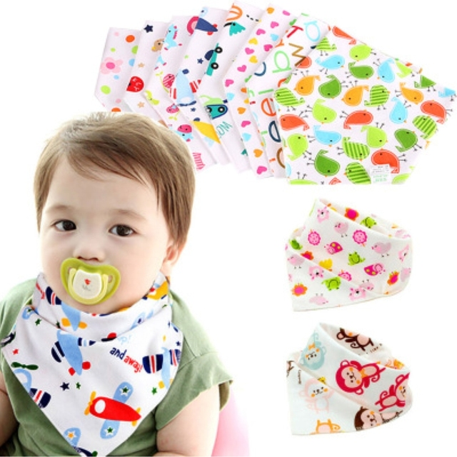 Cotton Bibs Burp Cloth Bandana Bibs Absorbent Babador Baby Apron Car Baby Eat Napkin Stuff for Babies Baby Boy Girls Accessories