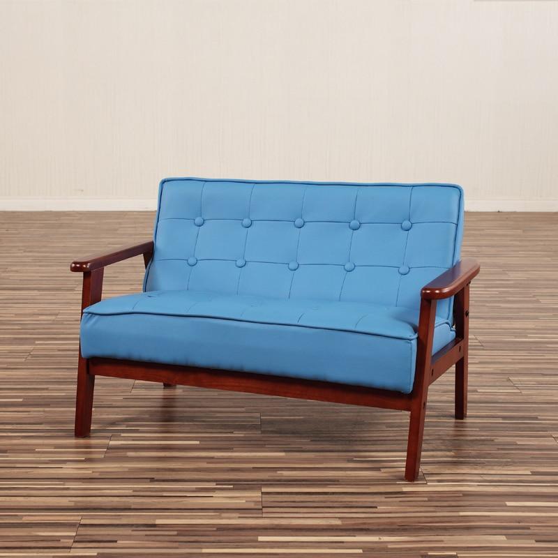 מותג חדש סביבה נטולת ריח לילדים כיסא ספה קטנה עור מעקות עץ kindergartener UM-69