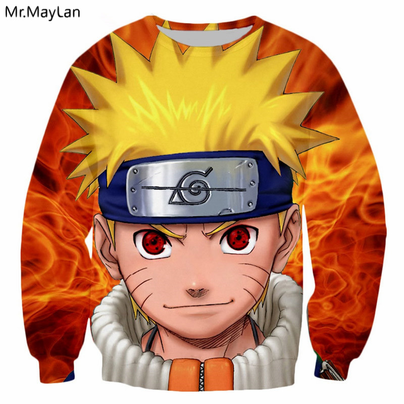 3D Print Anime Naruto Kid Uzumaki Sweatshirts Men/Women ...