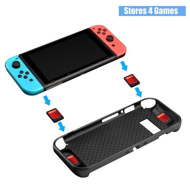 Купить с кэшбэком Nintend Switch Accessories Protective Case Guard Cover TPU Shell Docking Handle Grips w/ Card Slot For Nintendo Switch Nintendos