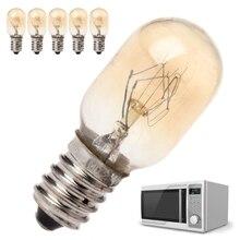 5 шт. светильник для микроволновой печи 230V 20W Высокое качество стеклянная лампа с винтовым креплением