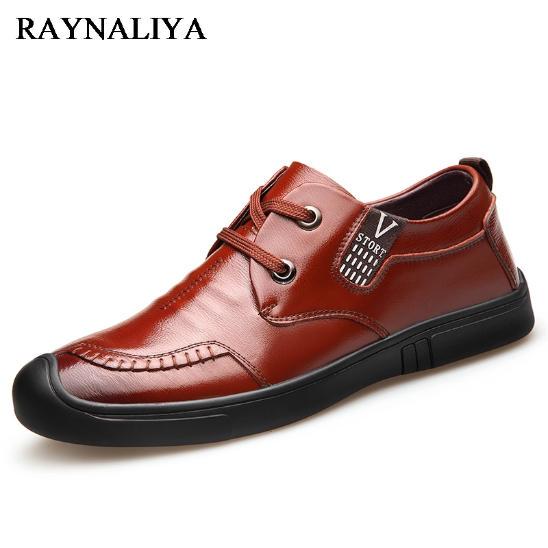 Luxury Brand Mens Casual Shoe New Fashion 2018 Breathable Split Leather Mens Shoes Lace-Up Solid Flat Shoes For Men BH-A0048 mens s casual shoes genuine leather mens loafers for men comfort spring autumn 2017 new fashion man flat shoe breathable