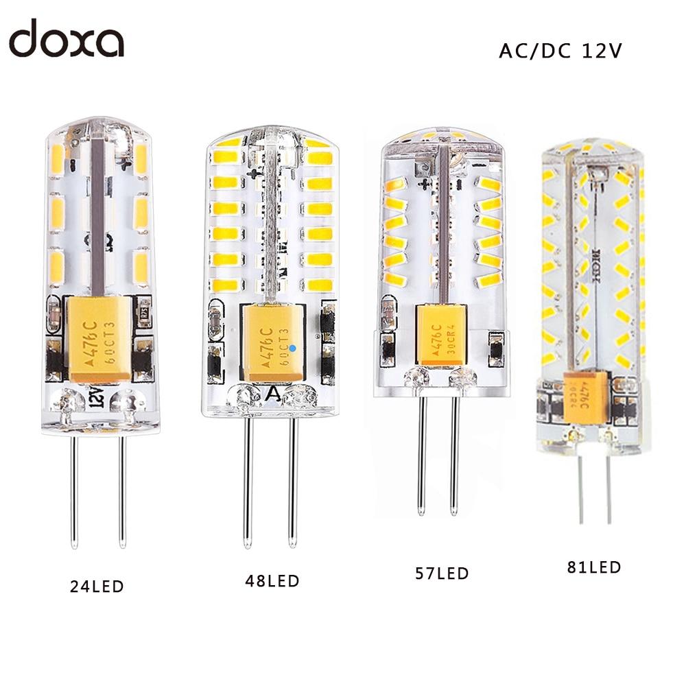 Us 0 72 27 Off G4 Led Bulb 12v Ac Dc 1 5w 2w 3w 4w Leds G4 Light Lamp Lampada Lampara Bombillas 360 Beam Angle Replace 10w 20w 25w 35w Halogen In
