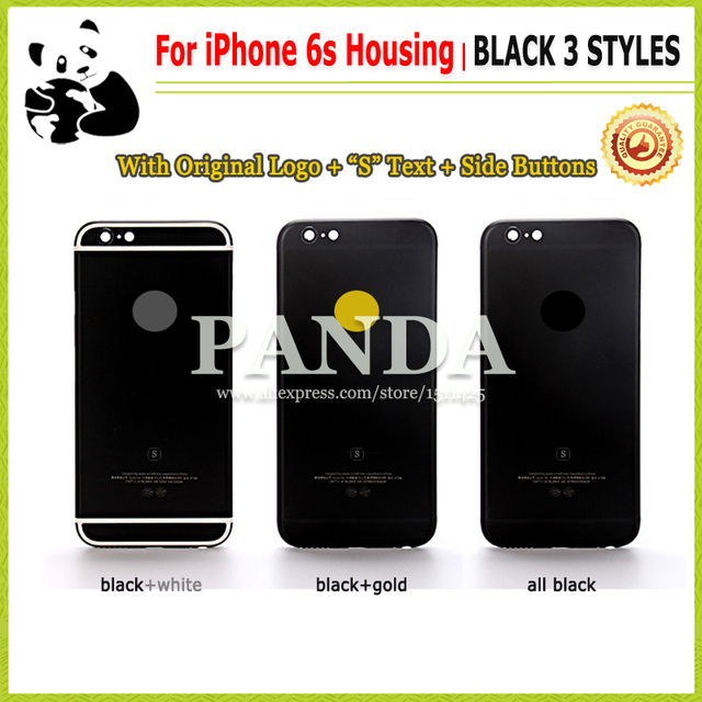 huge discount 18d76 0c484 US $26.2 |For iPhone 6S 4.7 Housing Back Cover Metal Frame Replacement  Black Color for iPhone6s New Rear Cover with Logo + Original S Text on ...