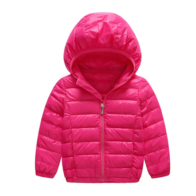 2017 New Arrival 6 Colors Children Winter Fashion Boys And Girls Winter Down Warm Jacket Thin Coat  Hooded  Wholesale