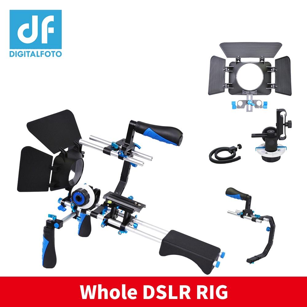 DF DIGITALFOTO DSLR rig follow focus matte box Ring Belt video 5D2 camera Shoulder mount cage