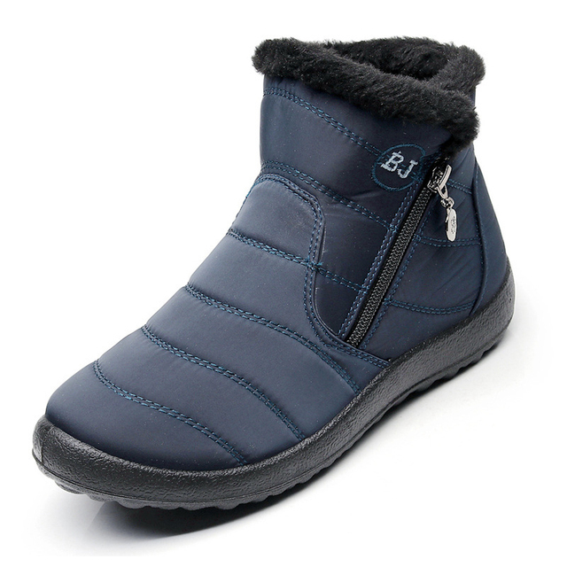 2018 женская обувь, зимние женские сапоги, зимние сапоги, женские сапоги-трубы, женские непромокаемые повседневные хлопковые сапоги с толстым мехом, большие размеры