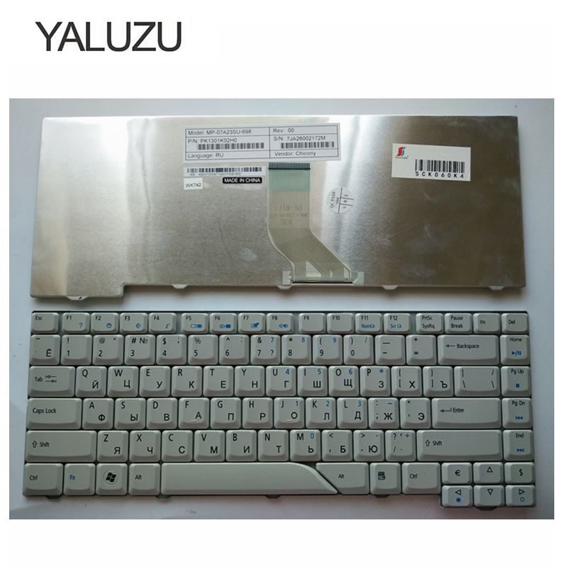 YALUZU Russian New Keyboard For Acer Aspire 5715 5715Z 5720G 5720Z 5720ZG 5910G 5920G 5920ZG 5930G 5950G 6935 RU WHITE