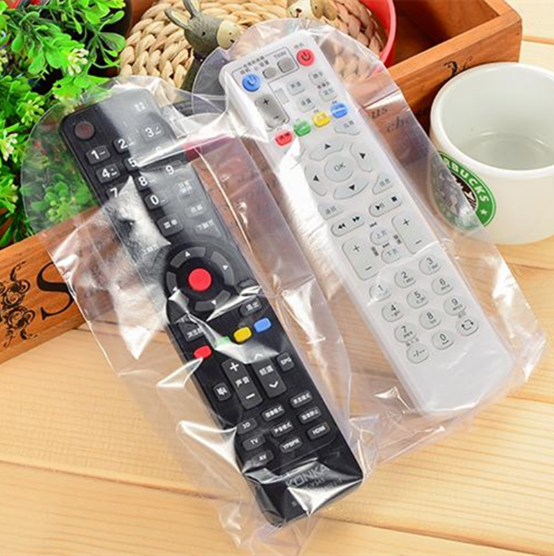 3set=15pcs!25*8cm Dust Proof Waterproof Heat Shrink Film Clear Video TV Air Condition Remote Cover Case Storage Bags Protector