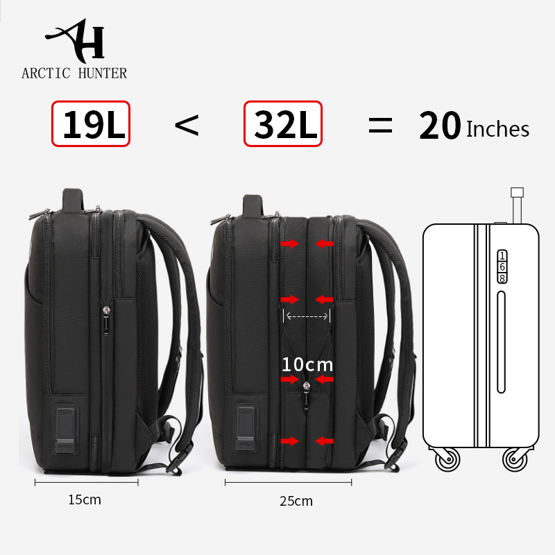 15.6 inch Multi functional Business Laptop Backpack - Water & Tear Resistant 2