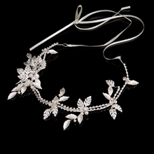 2017 Fine Women Silver Crystal Headbands Pearl Hair Ornaments Wedding Dress Hair Accessories Ladies Fashion Hairwear Jewelry