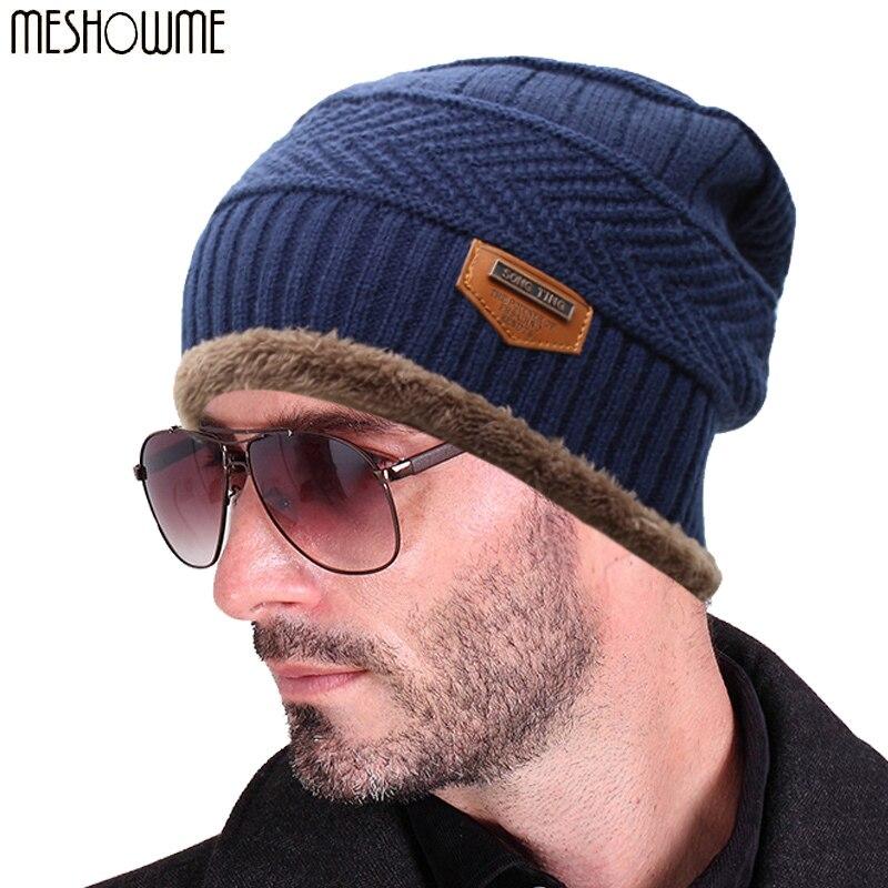 2016 Brand Beanies Knit font b Men s b font font b Winter b font font