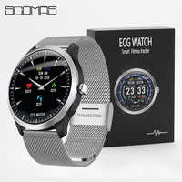 SCOMAS N58 ECG PPG Smart Watch Men 1.22IPS Round Display Heart Rate Blood Pressure Monitor Smart Reminder Smartwatch