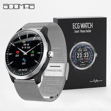 SCOMAS N58 ekg PPG Smart watch mężczyzn 1 22 IPS okrągły wyświetlacz Monitor ciśnienia krwi tętno inteligentny przypomnienie Smartwatch tanie tanio Passometer Uśpienia tracker Fazy Księżyca Tętna Tracker 24 godzin instrukcji Tracker fitness Wiadomość przypomnienie