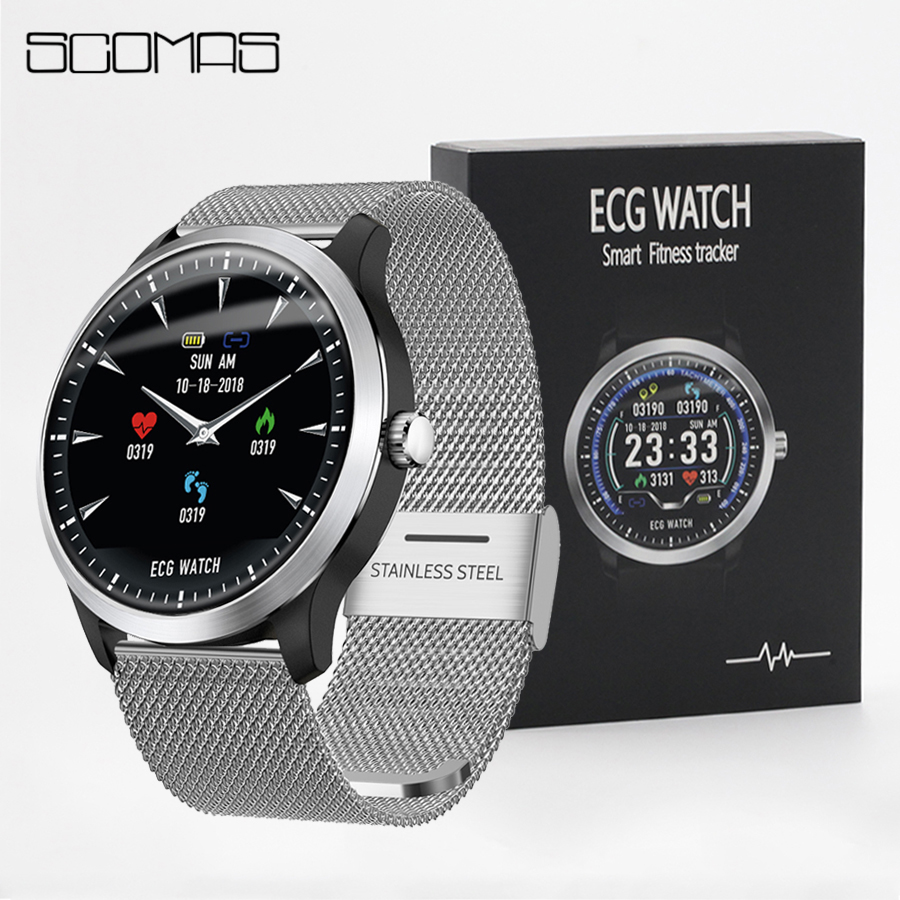 SCOMAS N58 ECG PPG Homens Relógio Inteligente 1.22
