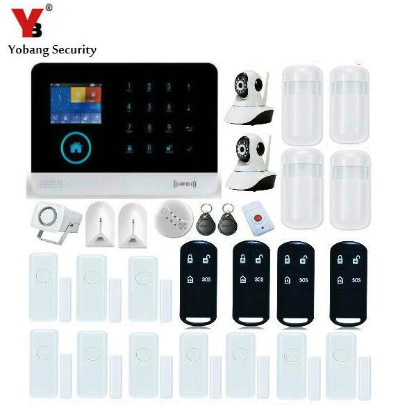 Yobang Security-APP Control RFID Tags WIFI GSM SMS Alarm System Auto Dial House Intelligent DIY Burglar Security Panic Alarm