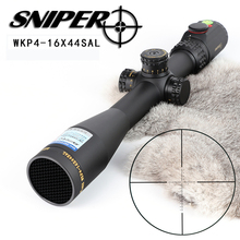 SNIPER WKP 4-16X44 SAL Hunting Rifle Scope Side Parallax Adjustment Glass Etched Reticle RG Illuminated with Bubble Level Optics new leupold mark 4 m4 4 12x40 mm ao illuminated mildot side wheel hunting scope page 7