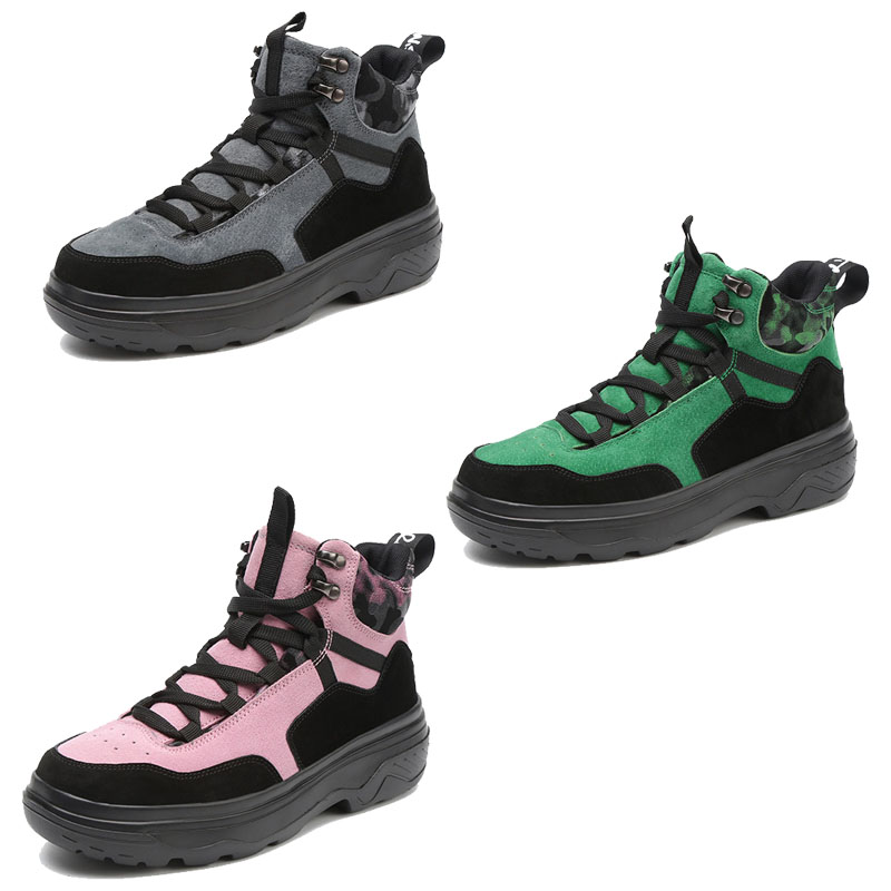 forme Caoutchouc Femmes Green 903 Bottes 2019 Femme 903 Printemps Wedge Randonnée Chaussrue Daim Pink Moto Cuir 903 Plate Sneakers Chaussures Grey En c53qAR4jL