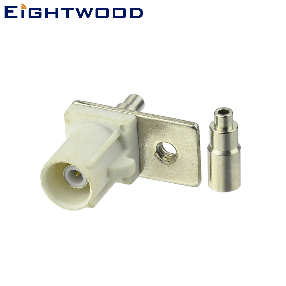 Eightwood Car AM FM Radio Antenna Reciever Connector Male Fakra Code B Plug White 9001 Crimp for 1 13mm 1 37mm OD Coaxial Cables in Cables Adapters Sockets from Automobiles Motorcycles