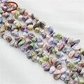 5 filamentos/paquete al por mayor de agua dulce naturales collar de perlas perlas sueltas perlas barrocas irregulares