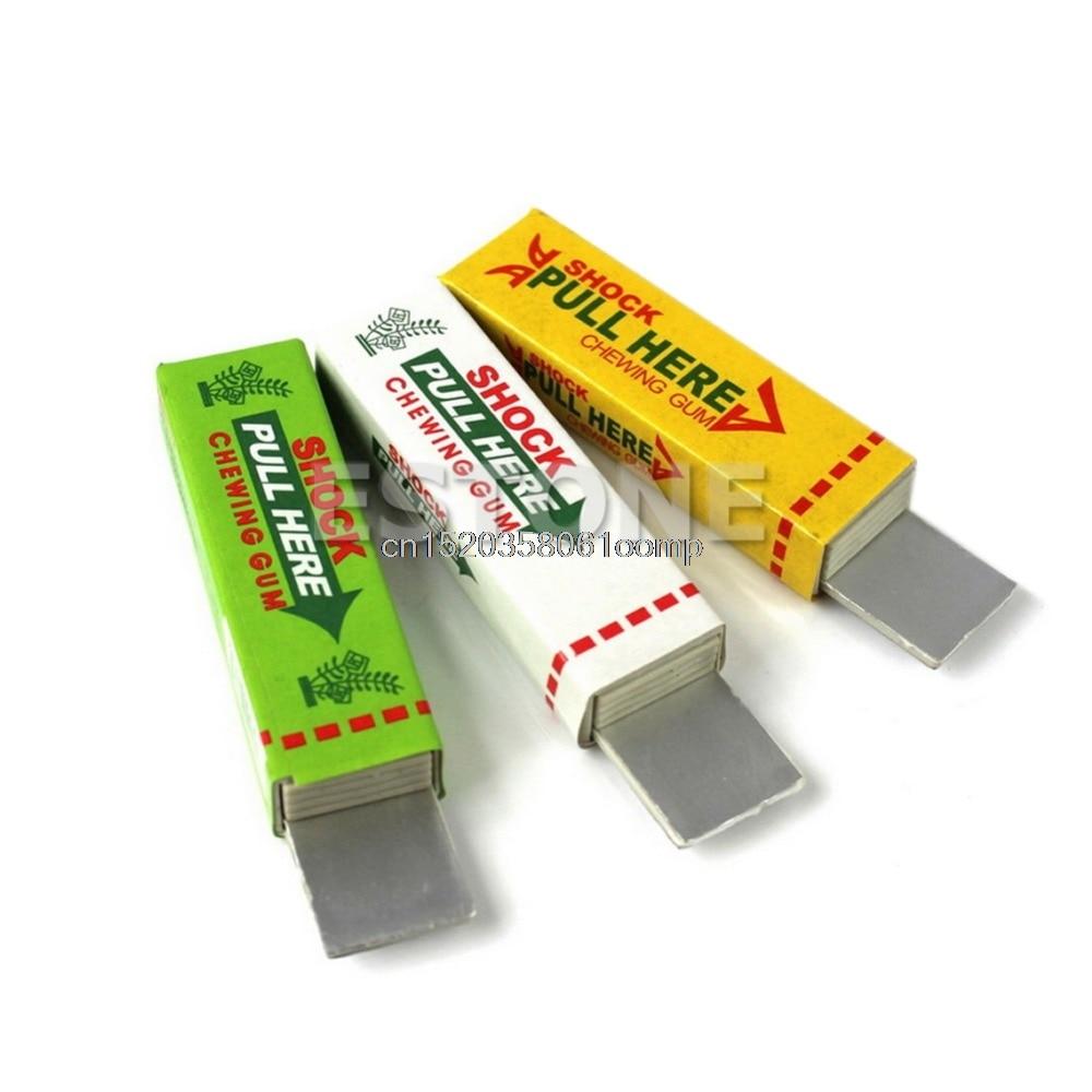 New Hot 5Pcs/Lot Electric Shock Chewing Gum Prank Joke Gag Trick #K4UE# Drop Ship
