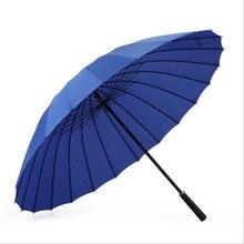 11 Colores Venta Caliente 24 Huesos de Gran Protector Solar A Prueba de Viento Paraguas de Golf Paraguas Coche