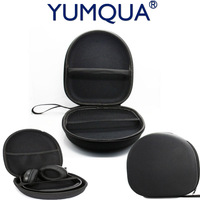 YUMQUA Portable Headphone Case Cover For Sony Gaming Earphone Case Hard Carrying Zippered Storage Bag Pouch