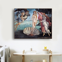 Laeacco Canvas Calligraphy Painting Nude Posters Prints Botticelli Venus Detailed From Sandro Wall Art Home Living Room Decor