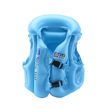 Kids Baby Life Jackets Inflatable Swim Vest PVC Children Assisted infl
