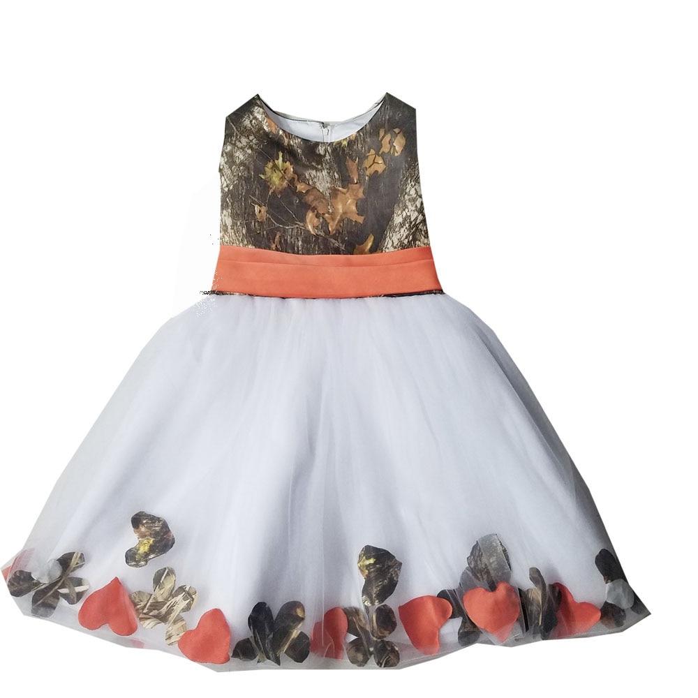 4b22509893dfe Camo And Orange Flower Girl Dresses - raveitsafe