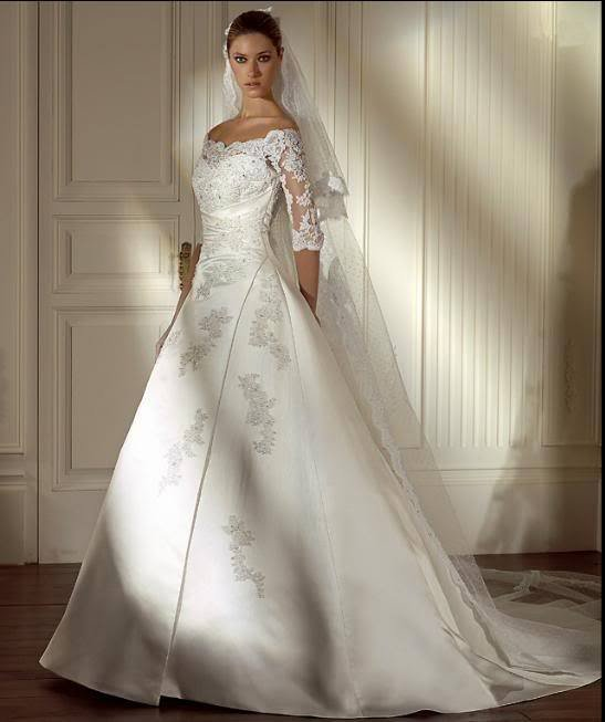 Free Shipping White Ivory Fashion Lace Half Sleeves Wedding Dress Bridal Prom Gown Custom Size In Dresses From Weddings Events On Aliexpress