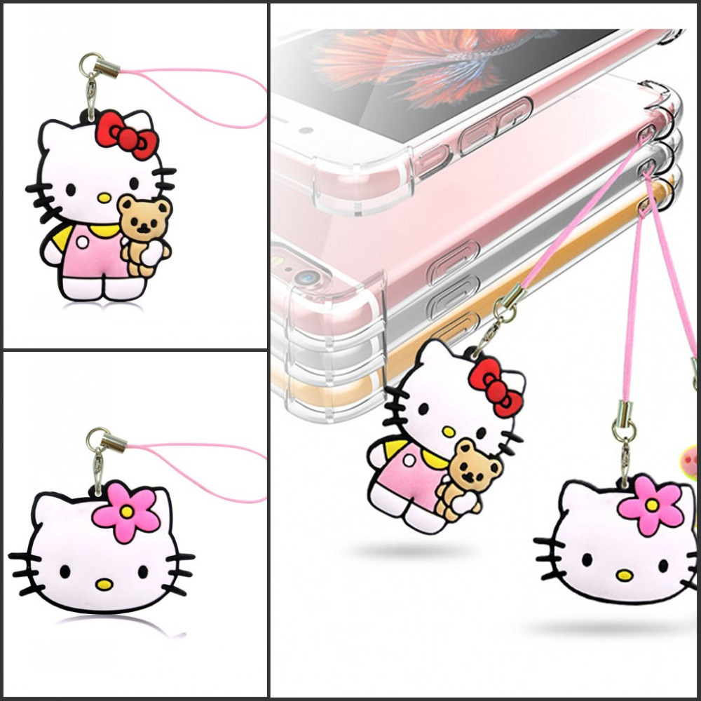 Free Shipping 1PCS Lovely Hot Cartoon 2D PVC Mobile Phone Hanging Strap Pendant Ornament With Hanging Strap Bags Accessories