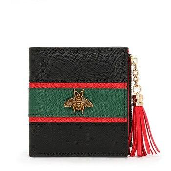 Offre spéciale en cuir véritable femmes portefeuilles femmes sacs à main Hasp portefeuille femme petit porte-monnaie en cuir Zipper Carteira Feminina