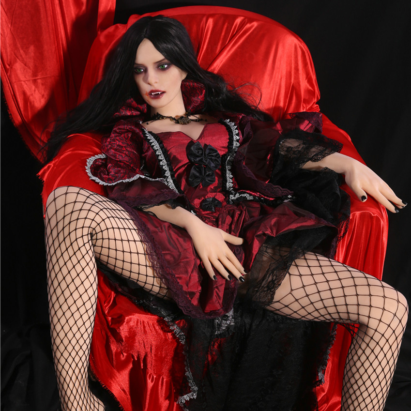Newest! 168cm Woman Vampire Lifelike <font><b>Sex</b></font> <font><b>Doll</b></font> Full Size with Skeleton Real Vagina and Anal <font><b>Sex</b></font> Partner Adult Products <font><b>Sex</b></font> Shop image