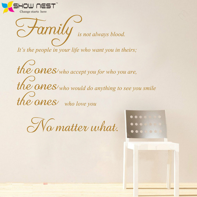 Family Quotes Wall Art Decals Removable Wall Stickers Lettering