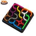 10 unids/set Nueva Llegada enlace IQ Rompecabezas Tetris Juguetes Niño Rompecabezas de Aprendizaje y Juguetes Educativos Para Niños de 3 + años Old-45