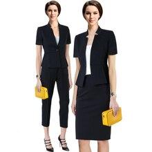 Women business Suits 2018 Fashion Women's Pants Suit slim Suit Jackets with Pants Office Ladies formal OL Pants Work wear sets