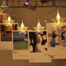 BTgeuse 1M 3M LED Photo Card Clip Star Fairy String Lights Battery Powered/USB for Christmas Anniversary and Celebration