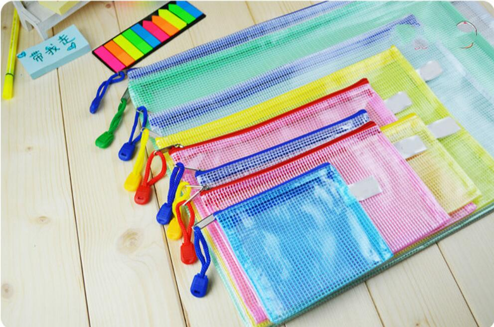 A3/B4/A4/B5/A6 Office Supplies Multilayer Zipper Bags Kits  Transparent Waterproof Mesh Bags File Holder