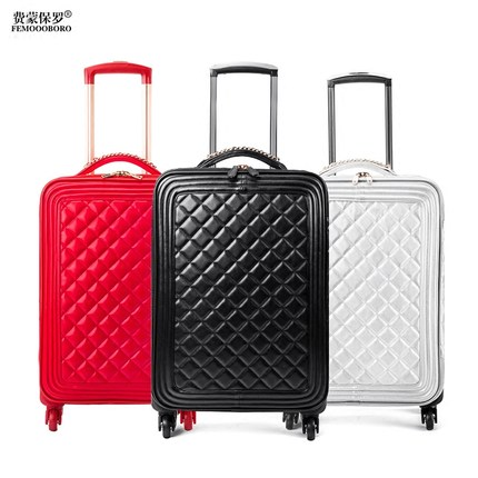 Travel Tale High Quality Fashion 16/20/24 Size Perfect, Artificial Skin Rolling Luggage Spinner Brand Travel Suitcase